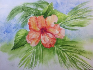 Hibiscus by Joan Maguire