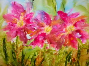 A floral painting on Yupp by Joan Maguire