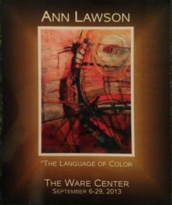 Ann Lawson at Ware Center 2013