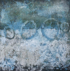 Moon Dance, oil and cold wax by Linda Benton McCloskey
