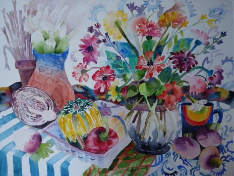 Blue Strip Still Life by Susan Davitti Darling