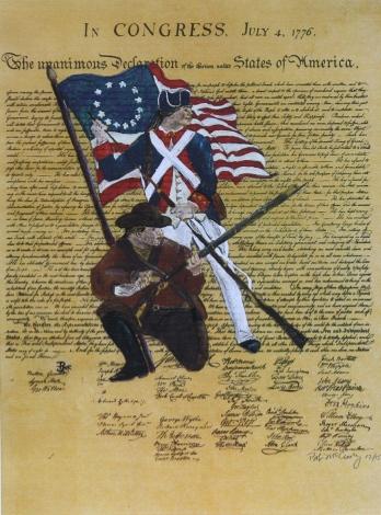 Freedom by Bob McCloskey 30 x 22 acrylic on paper