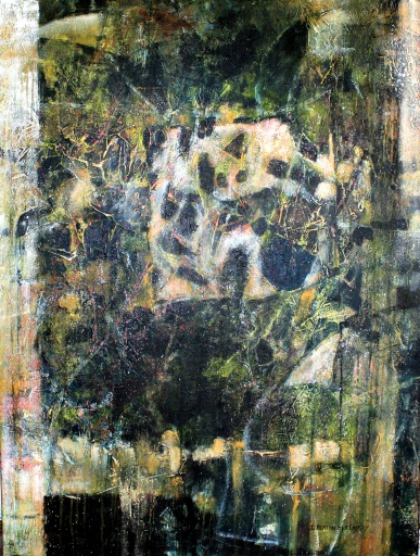 Grass Roots by Linda Benton McCloskey 48 x 36 acrylic