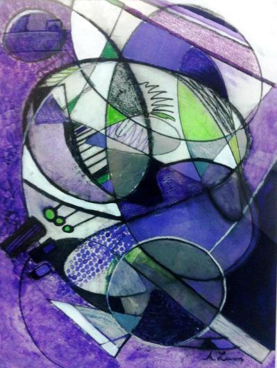 Kaleidoscope by Ann Yeager Lawson, 27 x 34 mixed media on paper