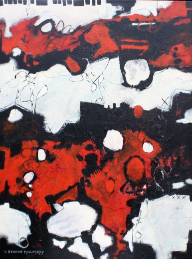 Razzle Dazzle by Linda Benton McCloskey 40 x 30 acrylic